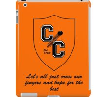 Chudley Cannons Logo with Motto iPad Case/Skin