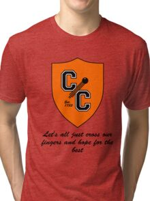 Chudley Cannons Logo with Motto Tri-blend T-Shirt