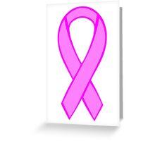 Breast Cancer Ribbon Greeting Card