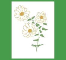 Daisy Floral Art  Baby Tee