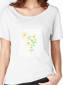Daisy Floral Art  Women's Relaxed Fit T-Shirt