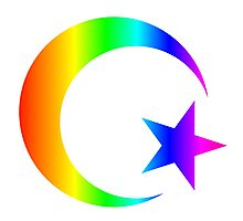Rainbow Islam Photographic Print