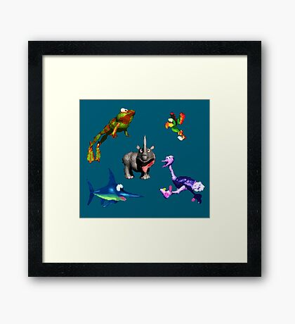 Donkey Kong Country - Animal Companions Framed Print