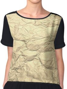 Crumpled Gold Paper Chiffon Top