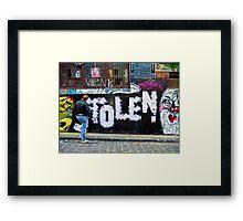 Stolen graffiti - Melbourne Australia Framed Print