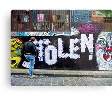 Stolen graffiti - Melbourne Australia Metal Print