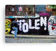 Stolen graffiti - Melbourne Australia Canvas Print