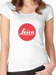 Leica Logo Women's Fitted Scoop T-Shirt