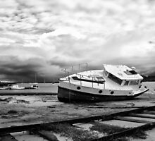 High and Dry - Western Port Victoria by Norman Repacholi
