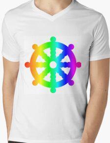 Rainbow Wheel Of Dharma Mens V-Neck T-Shirt