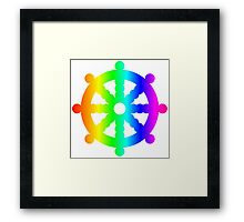 Rainbow Wheel Of Dharma Framed Print