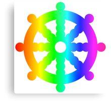 Rainbow Wheel Of Dharma Metal Print