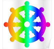 Rainbow Wheel Of Dharma Poster