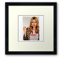 Kate Moss Supreme Framed Print