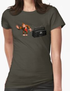 Donkey Kong Country - Rockin' Out Womens Fitted T-Shirt