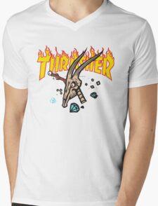 Thrasher Diamond Supply Mens V-Neck T-Shirt