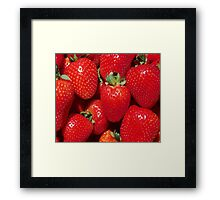 Garden Strawberries Framed Print