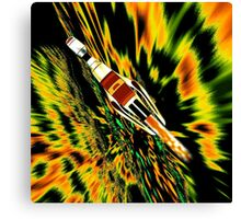 Combination Galactic Cruiser/Fighter - pillow & tote design Canvas Print