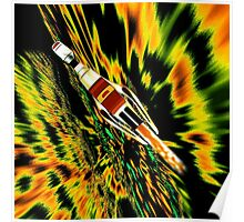 Combination Galactic Cruiser/Fighter - pillow & tote design Poster