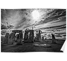 Stonehenge  in Monochrome Poster