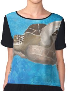 Turtle on an ocean adventure Chiffon Top