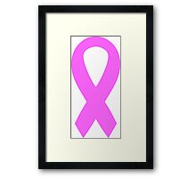 Pink Breast Cancer Ribbon Framed Print