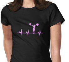 Cheerleading Heart Beat Cute Shirt Womens Fitted T-Shirt
