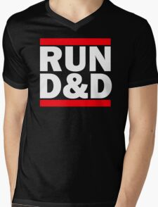 Run Dungeons and Dragons Mens V-Neck T-Shirt