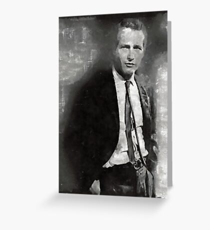 Paul Newman Hollywood Actor Greeting Card