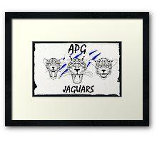 APG Jaguars 2016 Ripped Paper Framed Print