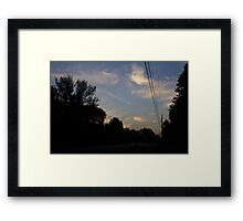 Sunrise Down the Wire Framed Print