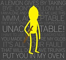 Lemongrab Silhouette & Quotes by Liam Kelly