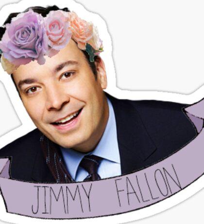 jimmy fallon flower crown 2 Sticker