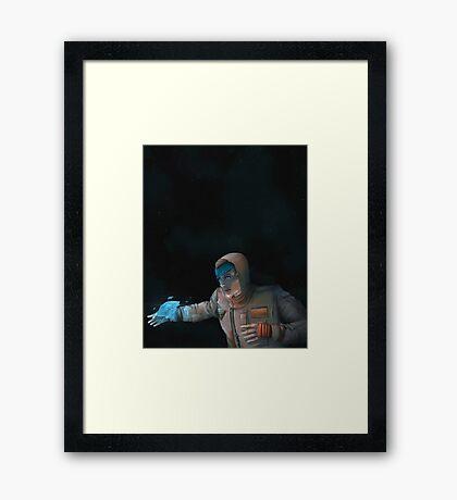 Super Cool Space Girl Framed Print