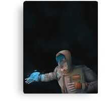 Super Cool Space Girl Canvas Print