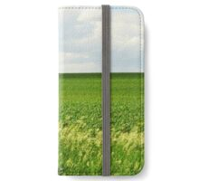 Out Standing in Its Field iPhone Wallet/Case/Skin
