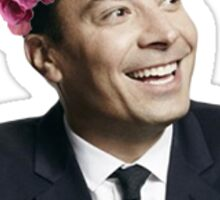 jimmy fallon flower crown Sticker