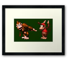 Donkey Kong Country - 5 Low Framed Print