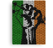 Irish Freedom Fist Flag  Canvas Print