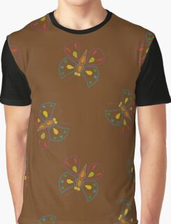 Butterflies on brown Graphic T-Shirt