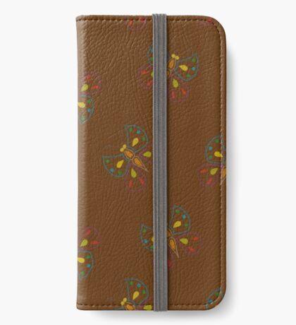 Butterflies on brown iPhone Wallet/Case/Skin