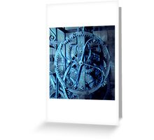 Energy of clock gear Greeting Card