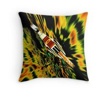 Combination Galactic Cruiser/Fighter - pillow & tote design Throw Pillow