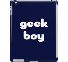 Geek Boy T-Shirt iPad Case/Skin