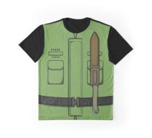 Chris Redfield Vest Stars Resident Evil Graphic T-Shirt