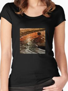 Sunset colours on the beach Women's Fitted Scoop T-Shirt