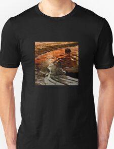 Sunset colours on the beach Unisex T-Shirt