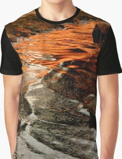 Sunset colours on the beach Graphic T-Shirt