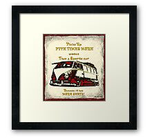 Pick up Framed Print