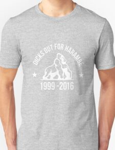 Dicks Out For Harambe 2 white Unisex T-Shirt